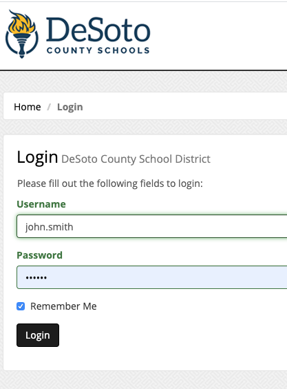 Teacher Login Example