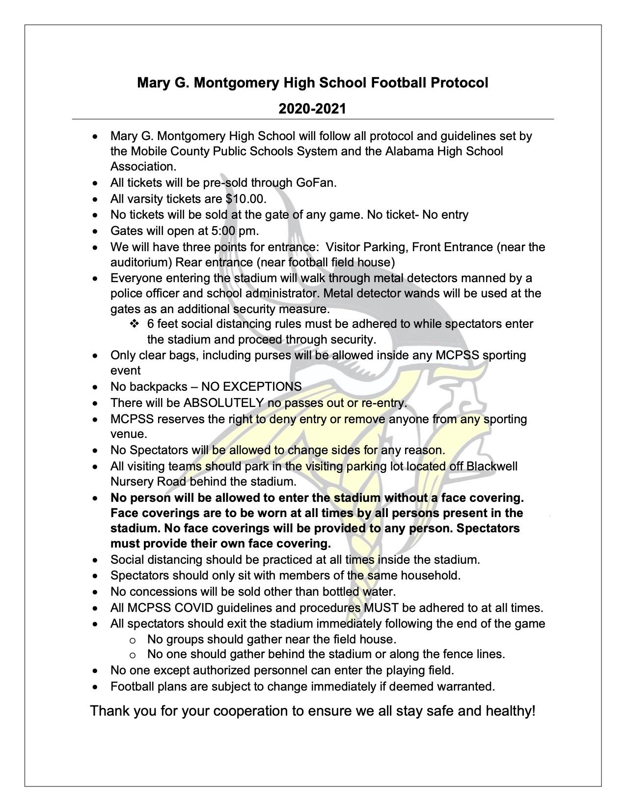 MGM Football Protocol