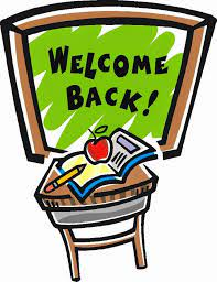Chalkboard with Welcome back