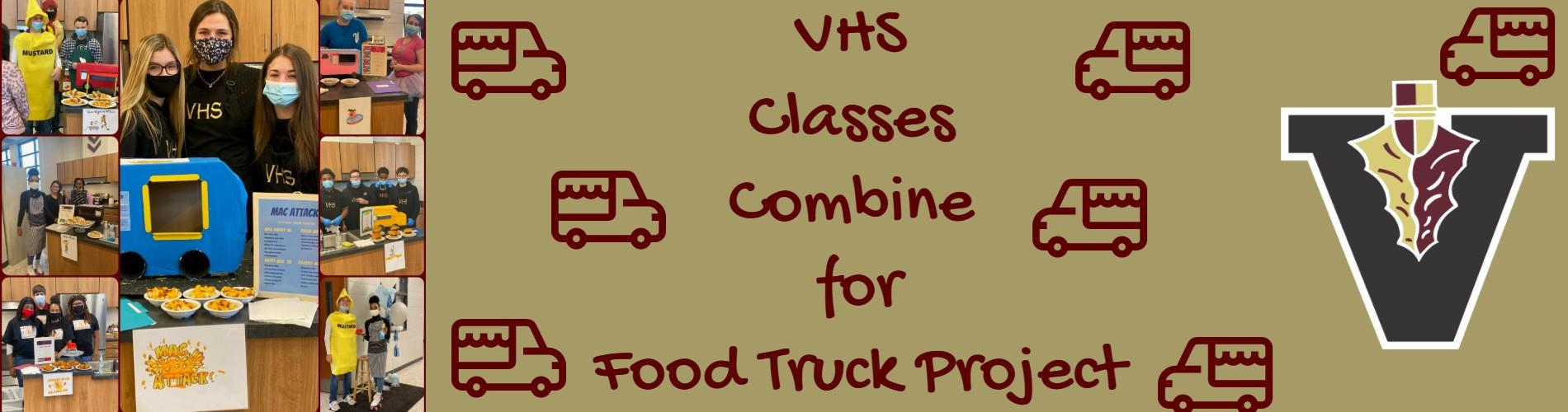 Classes Combine for Food Truck Event