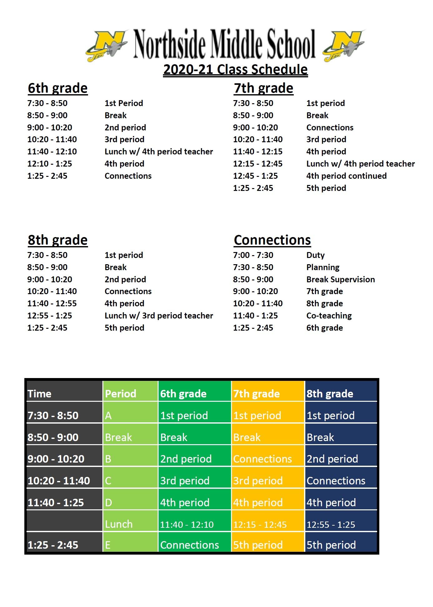 NMS Master Schedule 2020-2021