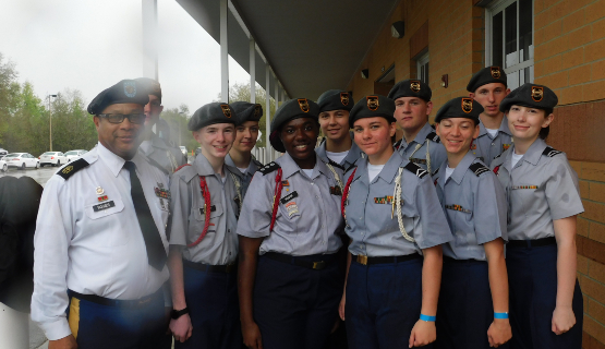 ROTC Cadets and Officers