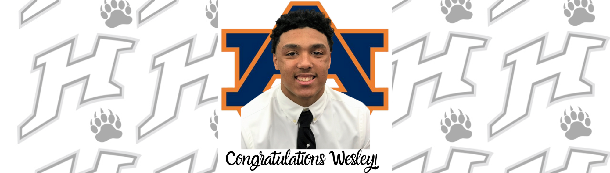 Congratulations Wesley