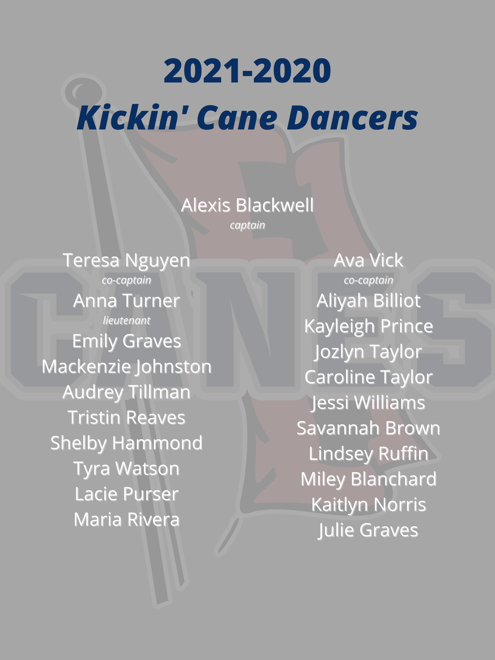 Your 2021 - 2022 Kickin' Canes!