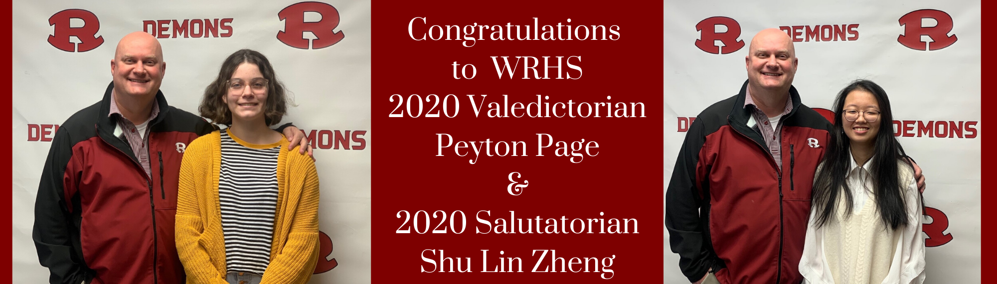 Congratulations to Valedictorian and Salutatorian