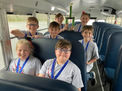 EBOB 1st Place Seagrove on the bus