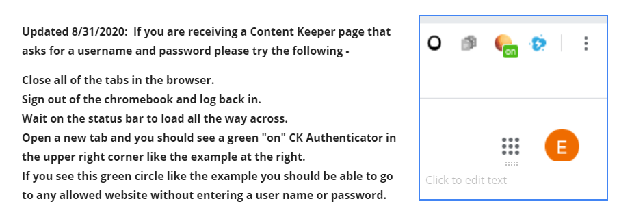 Instructions - Content Keeper Blocking