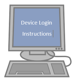 Login instructions