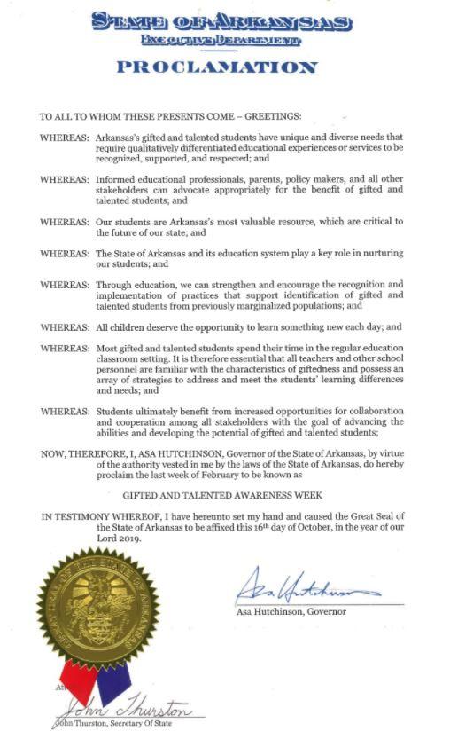 GT week proclamation