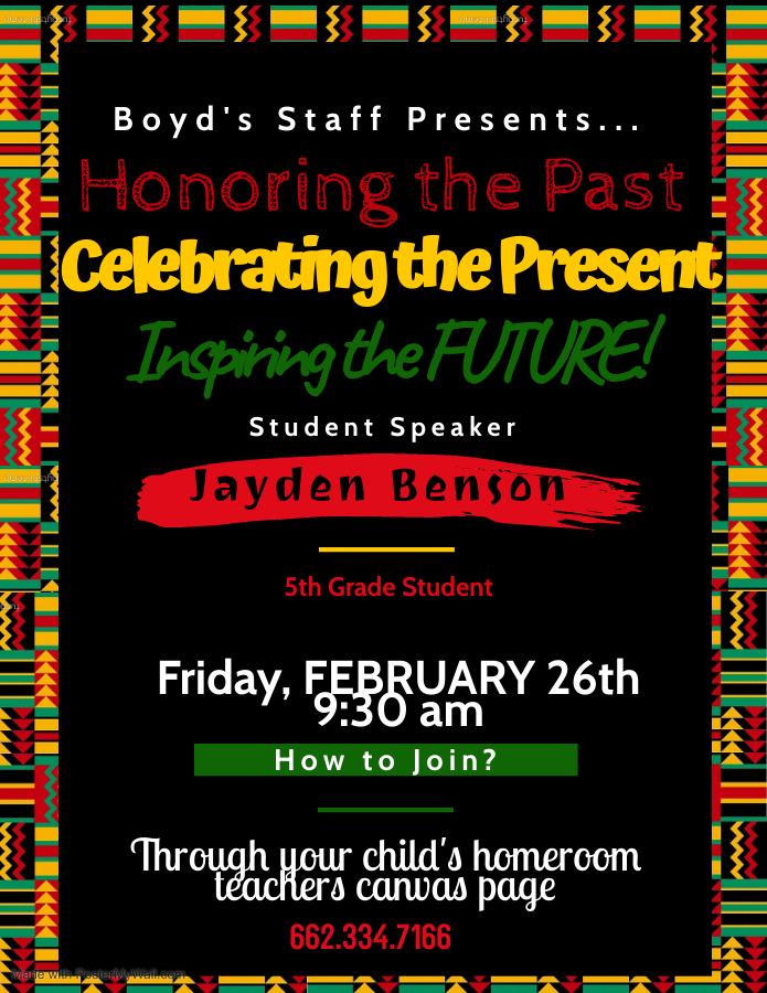 Boyd Black History flyer