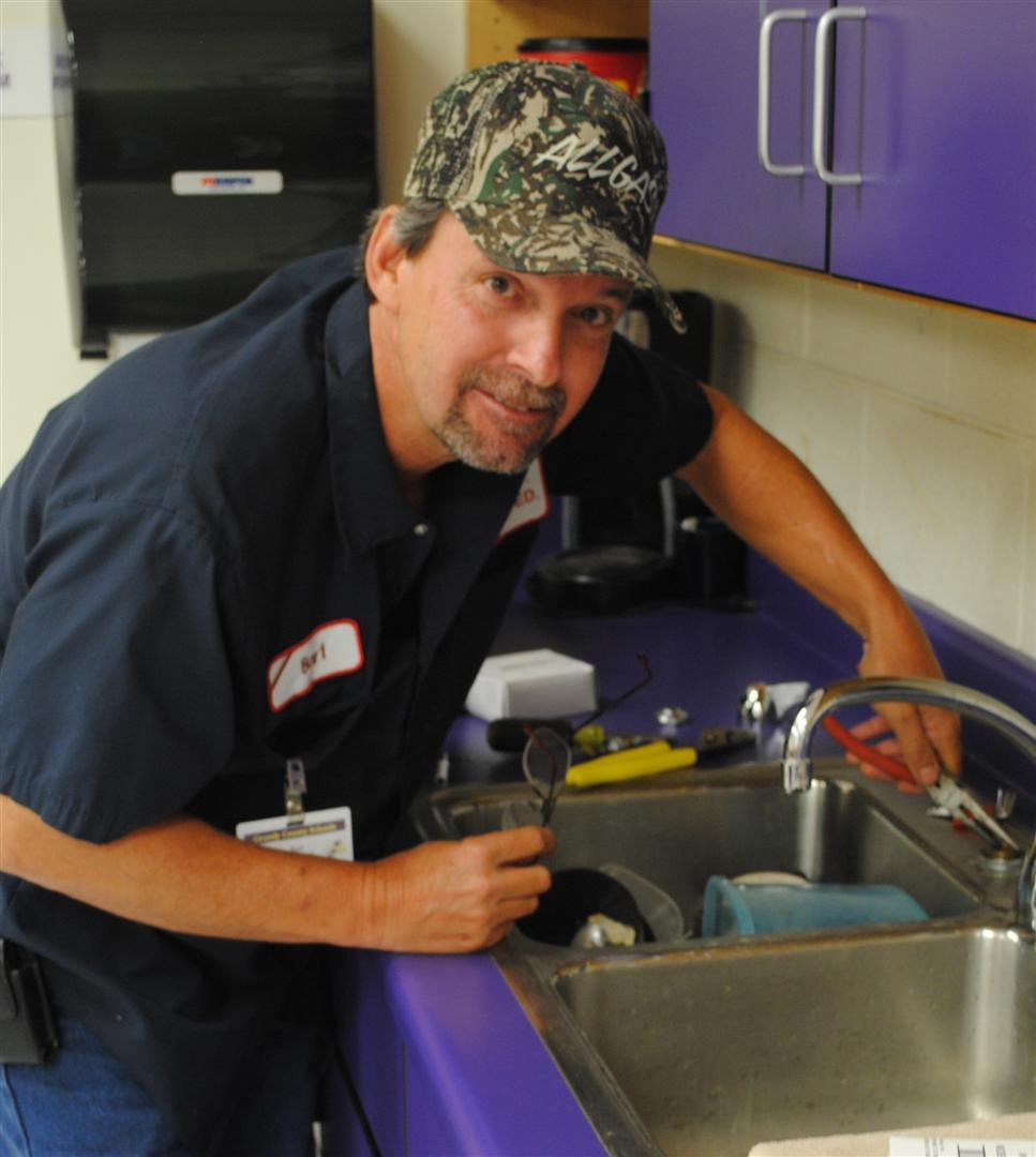 Male maintenance worker