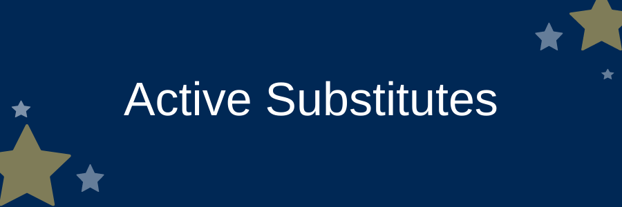 Active Substitutes information