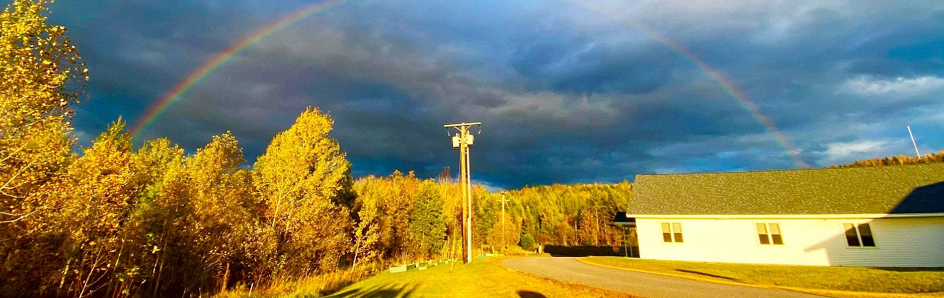 Rainbow at Stewartstown school