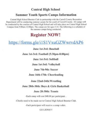 CHS Sports Camp