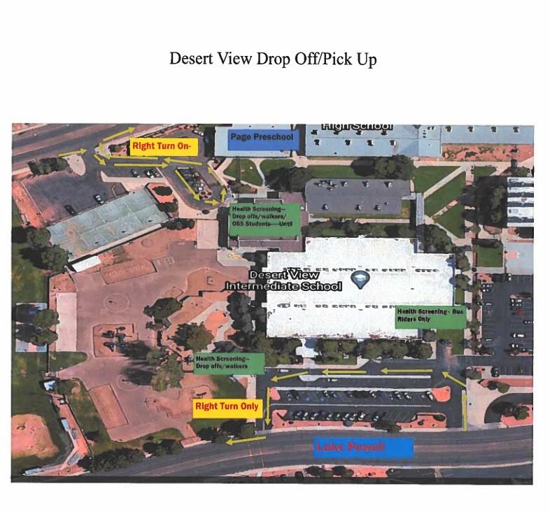 graphic of DVI's dropoff map