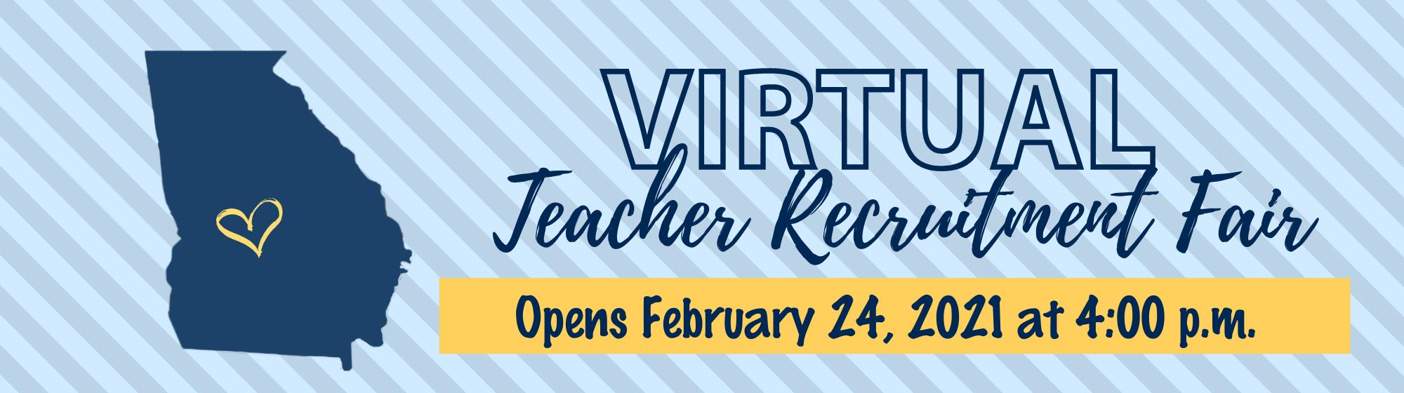 Virtual Teacher Recruitment Fair - February 24