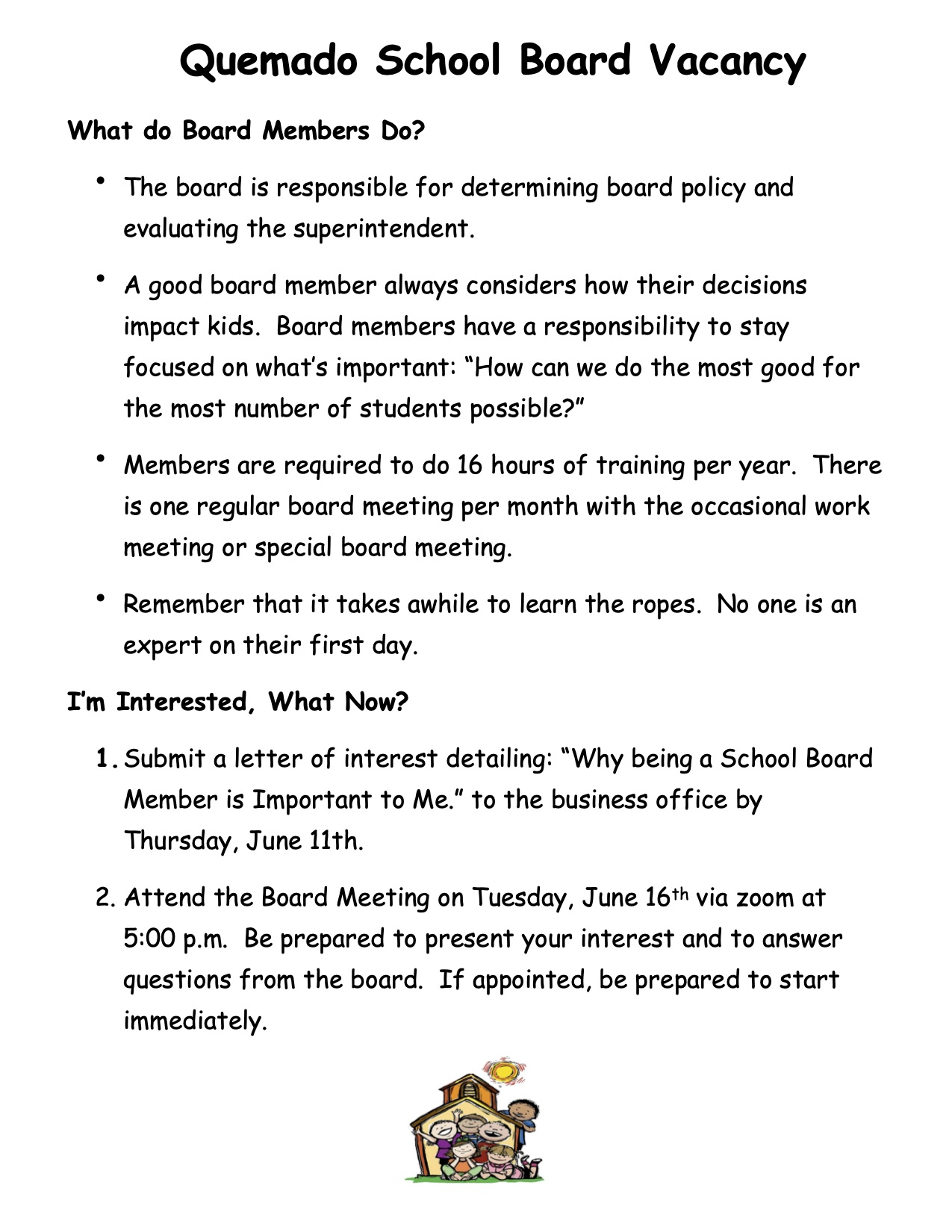 Board Candidate Flyer