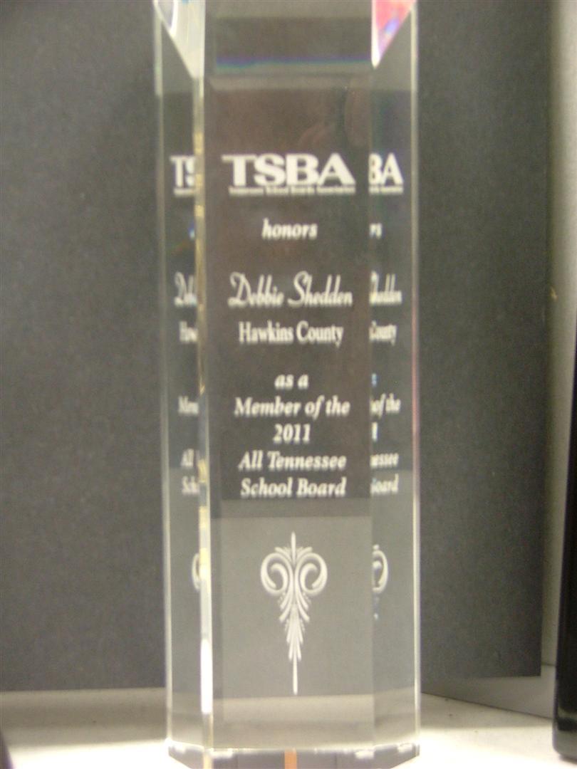TSBA also honors Debbie Shedden
