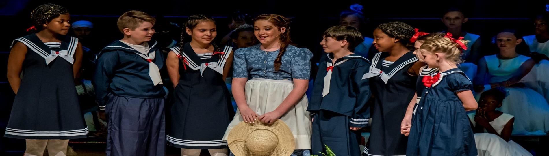 cast of IES Sound of Music on stage