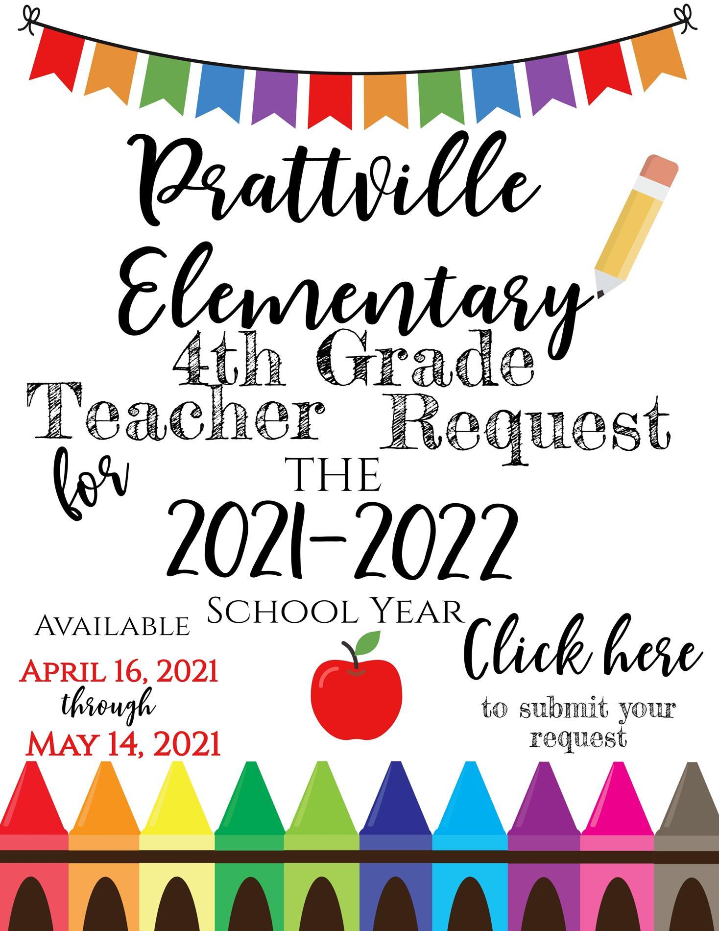 4th Grade Teacher Request