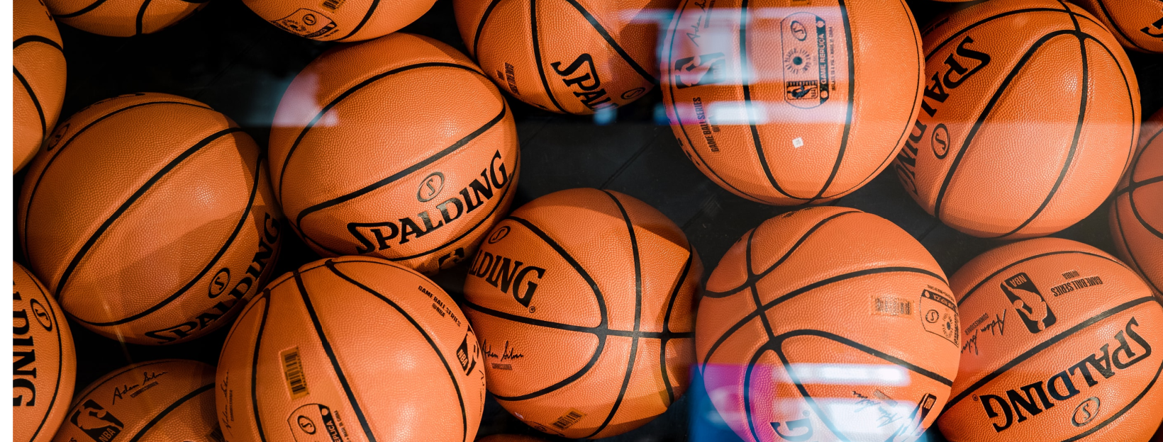 basketballs in a pile