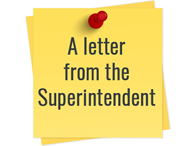 clip art that says letter from the superintendent