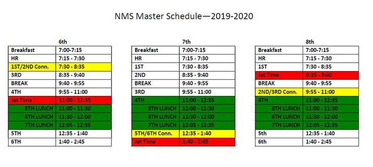 NMS Master Schedule 2019-2020