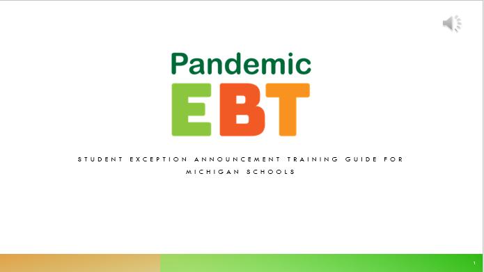 Pandemic Benefit card program