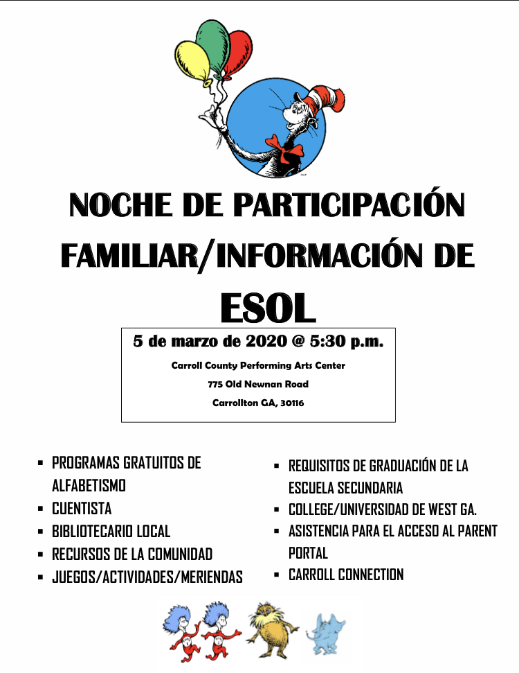 ESOL Flyer Spanish