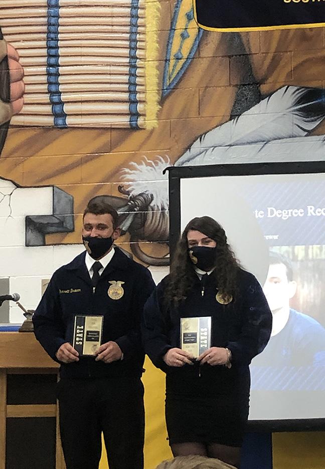 State Degree Winners: Garrett Brewer and Addisyn Milhoan