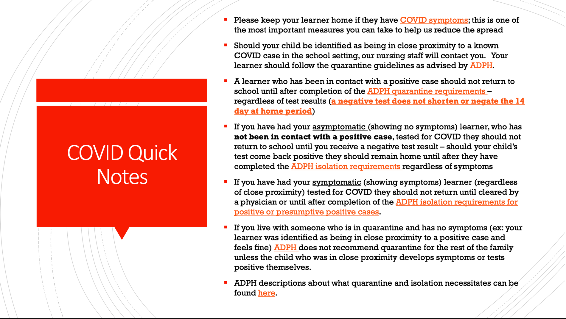 COVID Quick Notes