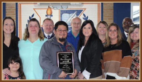 Ron Hernandez, school and district administrators, family members