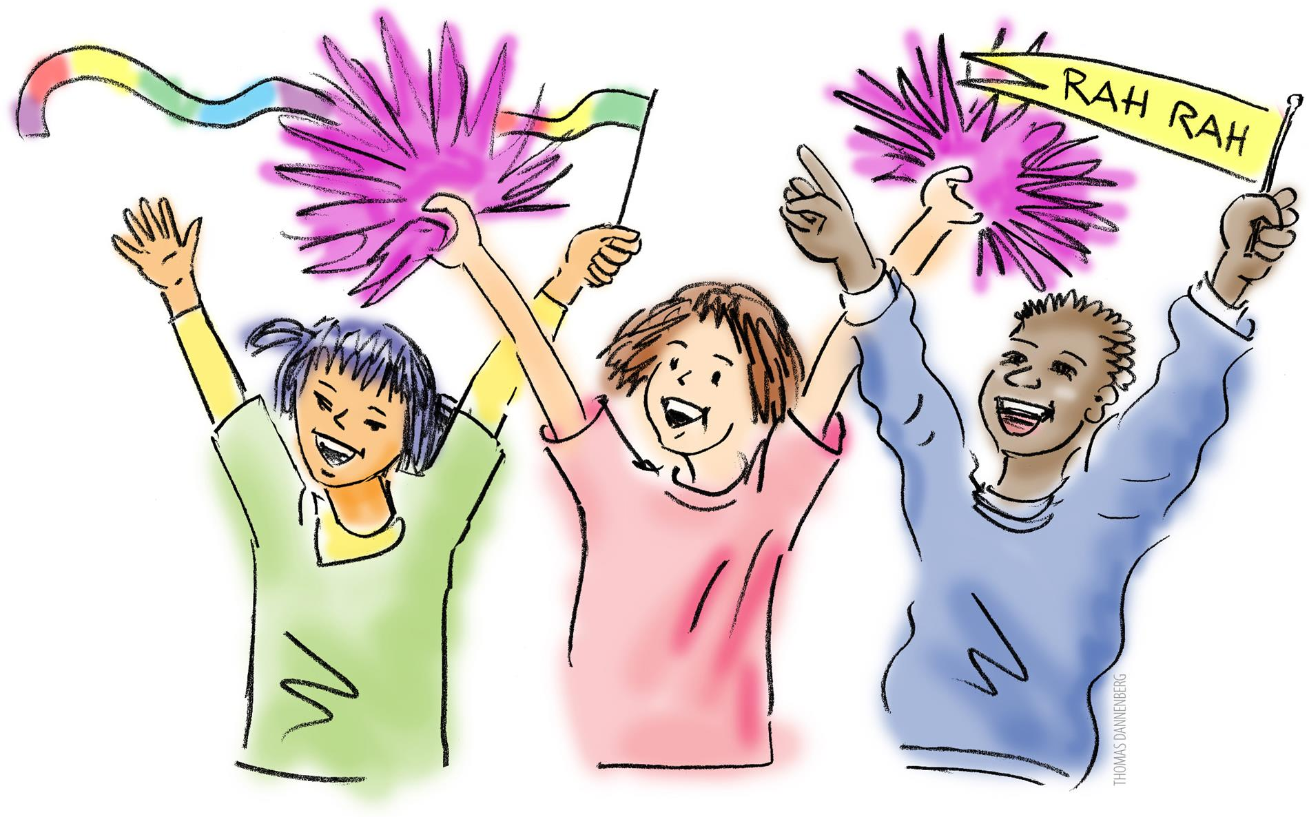cheering clipart