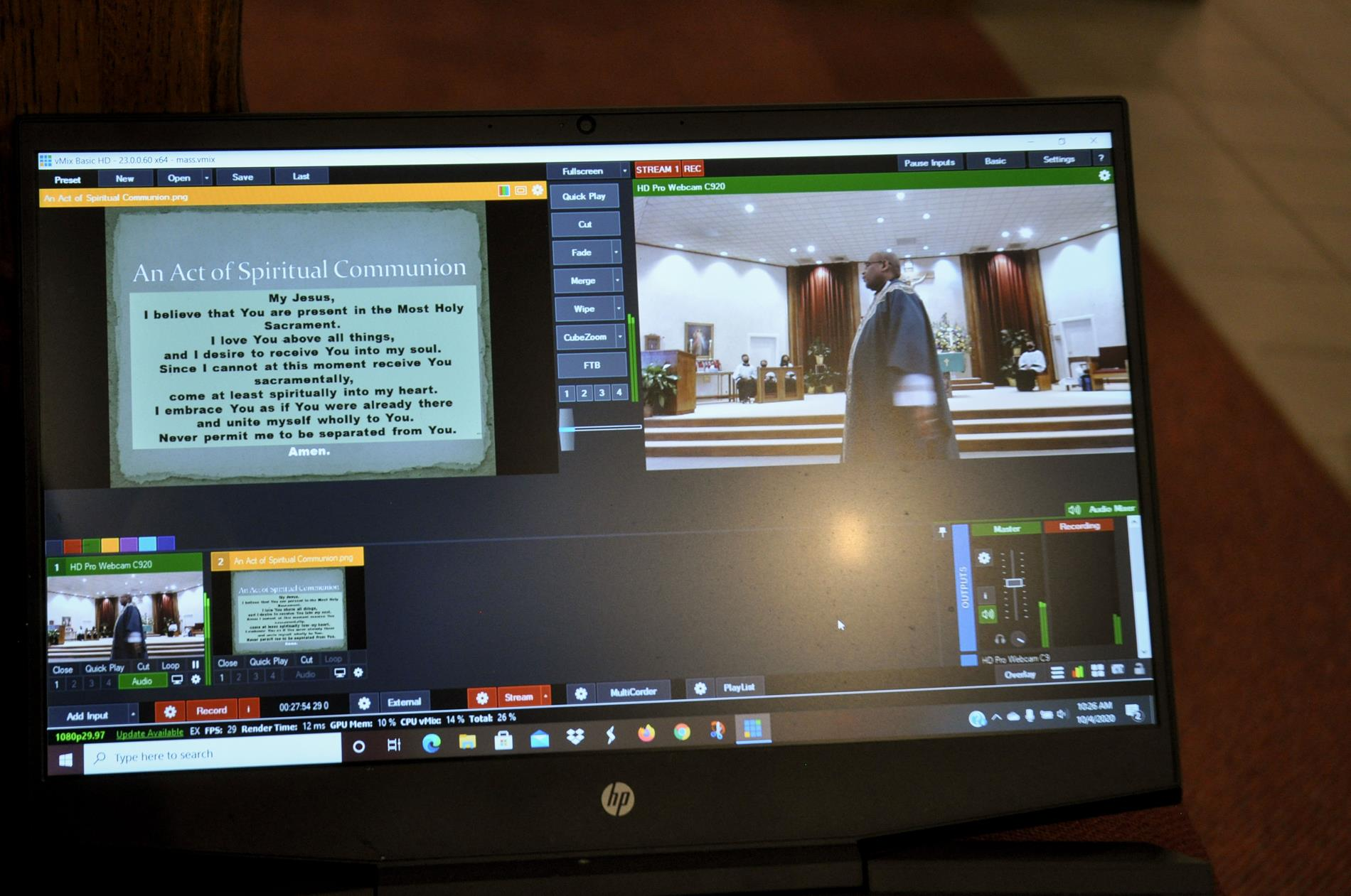 Website livestream software in action