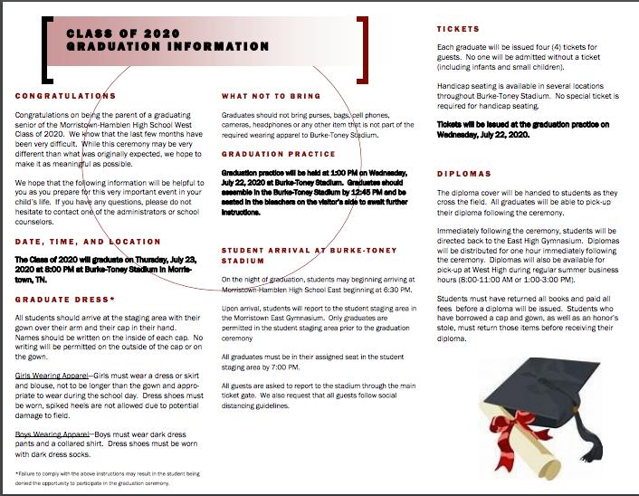 Continued graduation info.