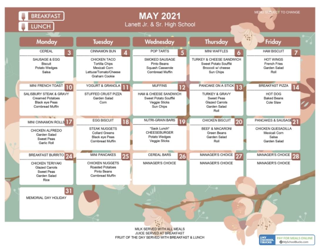 LHS May menu