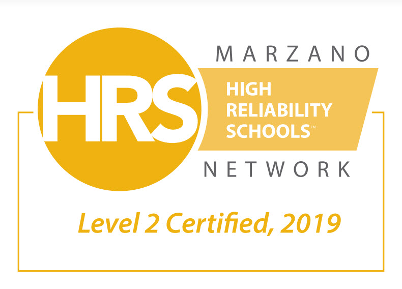 High Reliability Schools Level 2 certified 2019