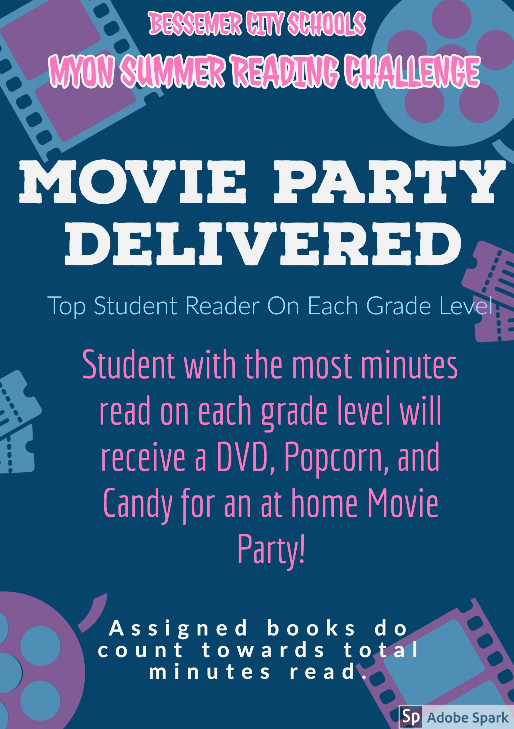 Summer myOn Movie Party Challenge