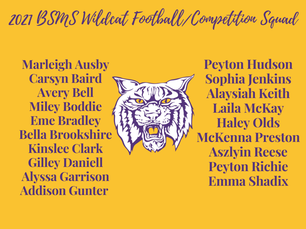 2021 BSMS Wildcat Cheer Squad/Competition