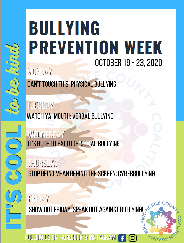 Schedule of Events for the Week