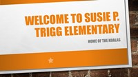 Trigg Elementary Welcome Banner
