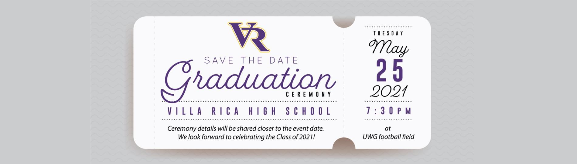 Picture of Graduation Save the Date - May 25