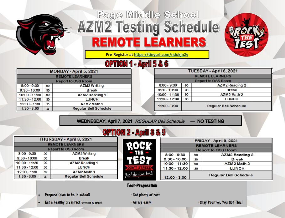 AZ Merit In Remote Schedule