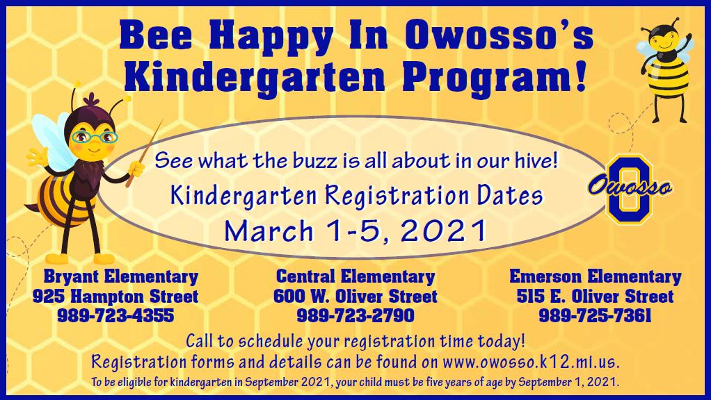 Kindergarten Registration 2021-22 Promotion