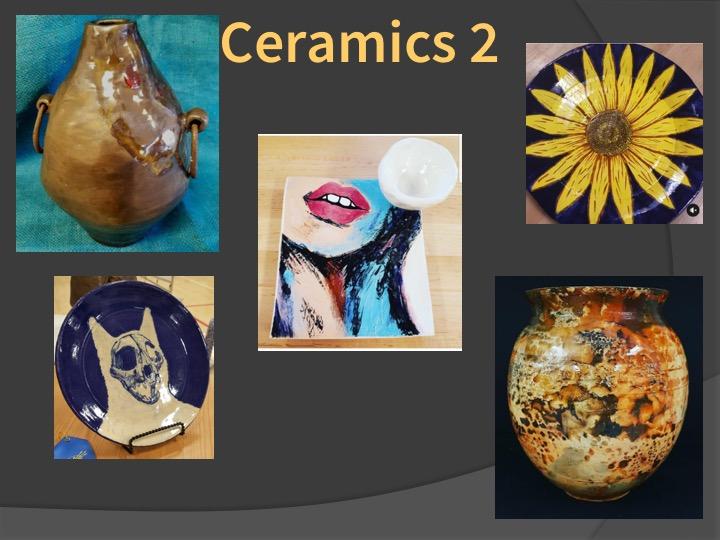 Examples of Ceramics 2 student work