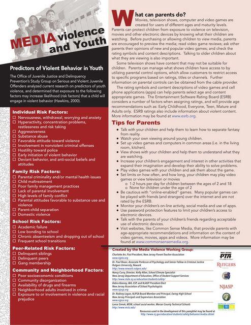 Media Violence Pamphlet 2