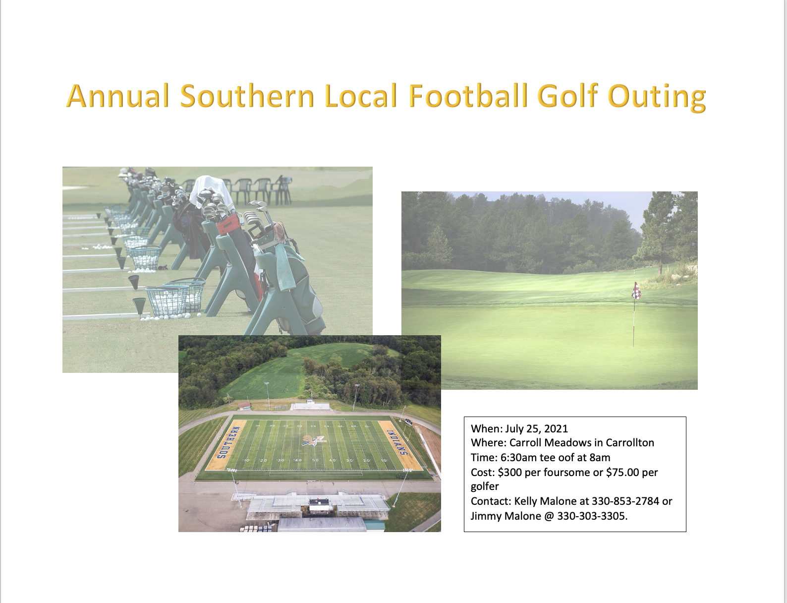 Golf outing to benefit SL Football