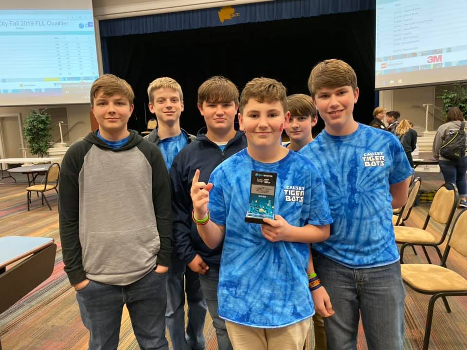 Team Bots and Bricks with award