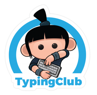 Typing Club logo with link