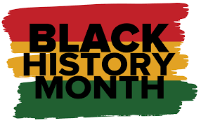 Black History Month icon with link to resources for Black History Month